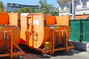 Press Container Compactor for Industrial Waste Disposal Hydraulic Bin