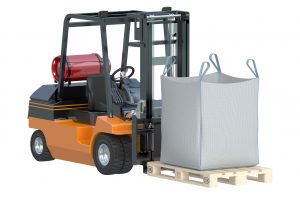forklift with super sacks
