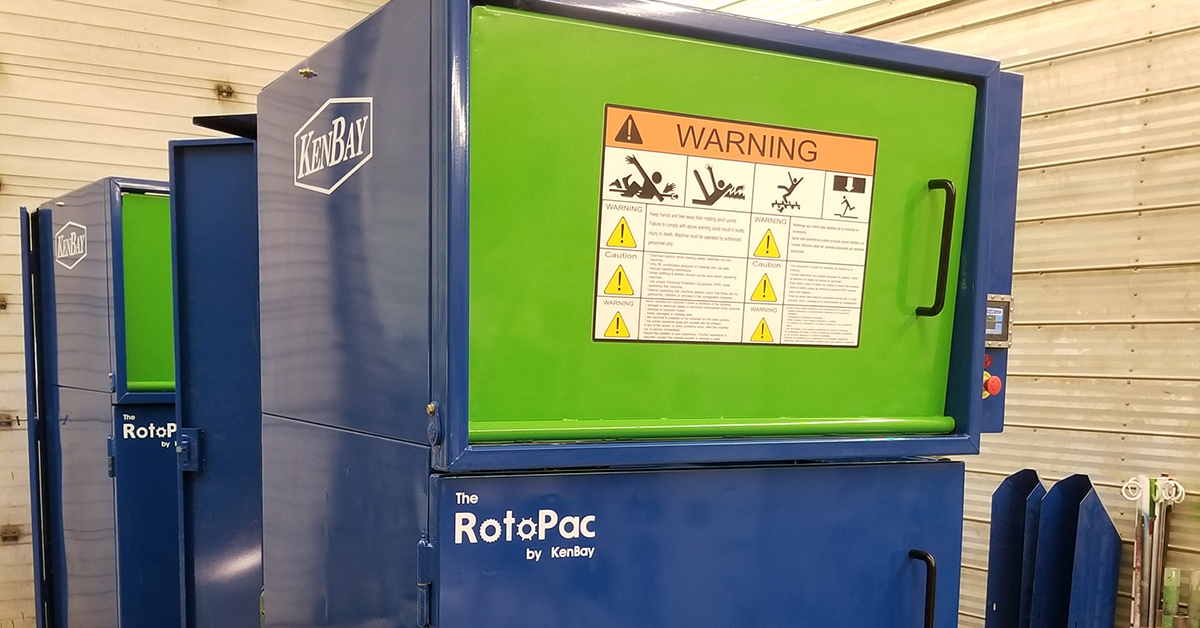 Rotopac Commerical Trash Compactor