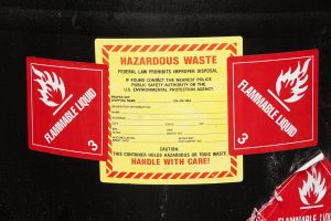 Proper labeling on hazardous waste